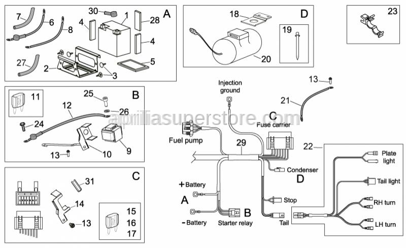Aprilia - Rubber pipe 12,8x8,8 L=95