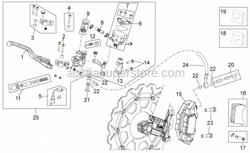 Aprilia - Screw w/ flange M10x1,25x40