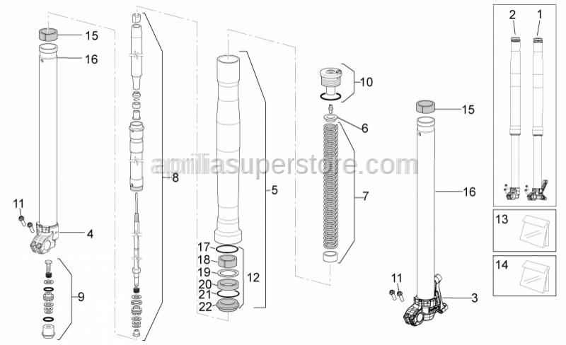 Aprilia - Front fork tube