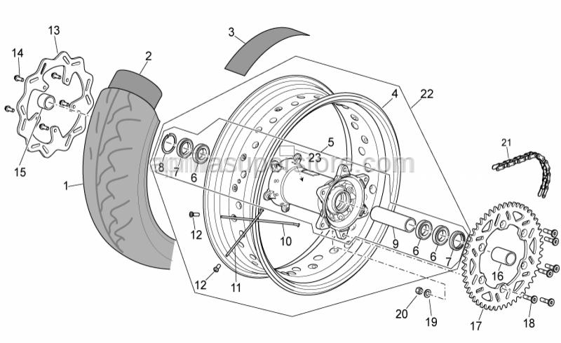Aprilia - Rear wheel 17