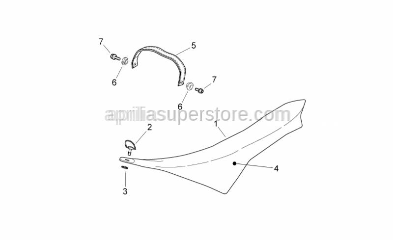 Aprilia - Saddle casing