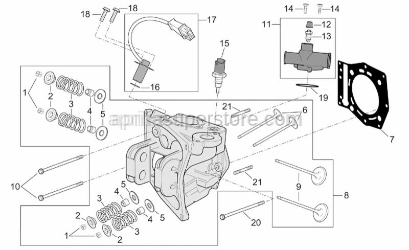Aprilia - Screw w/ flange M6X8