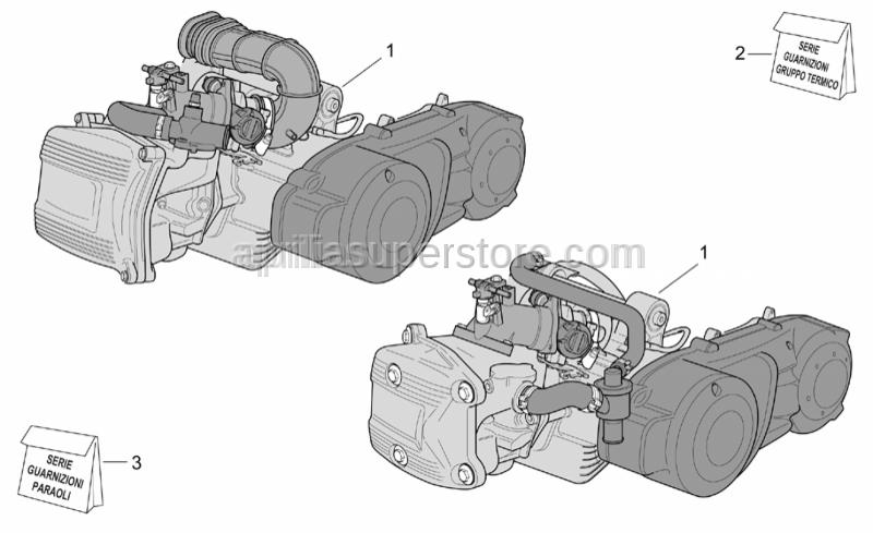 Aprilia - Engine set gasket SUPERSEDED BY 497091 PLEASE ORDER 497091