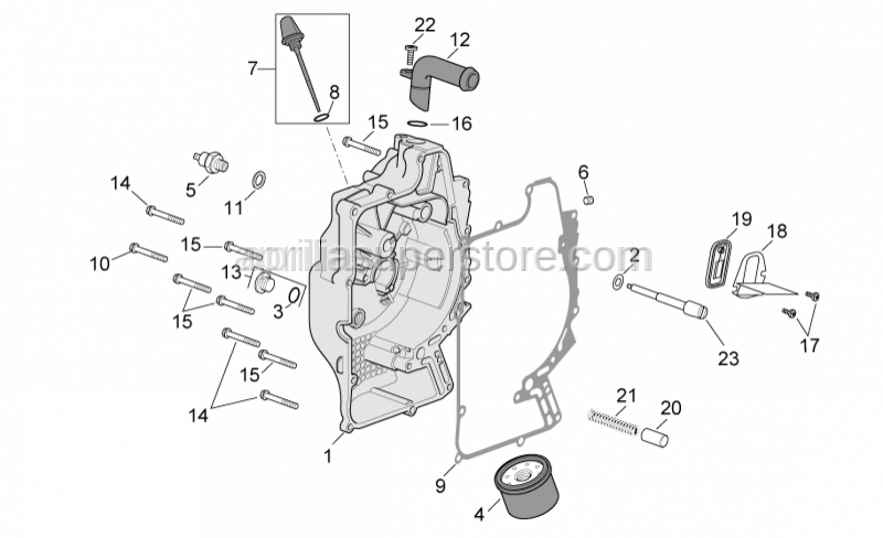 Aprilia - Reed valve support