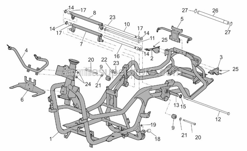 Aprilia - Hex socket screw M12x108*