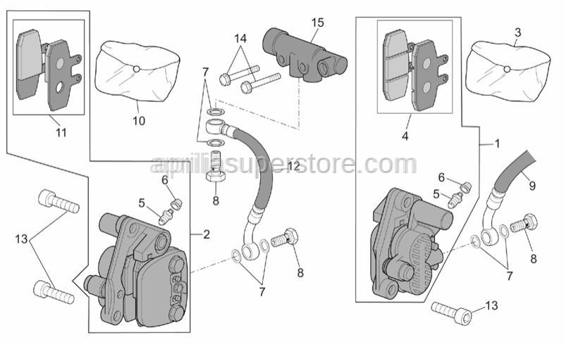 Aprilia - LH front brake caliper