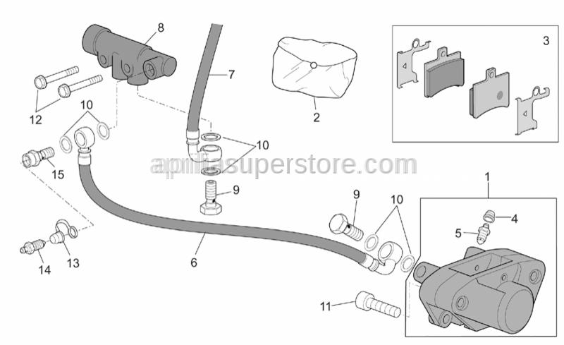 Aprilia - Bored screw