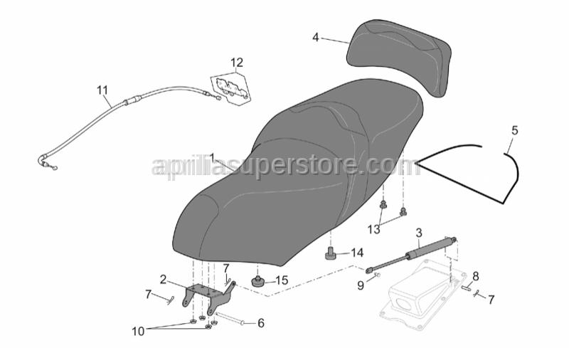 Aprilia - Driver saddle, grey