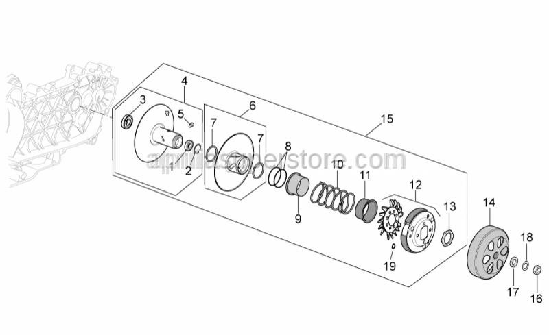 Aprilia - Guide pin L=12,5