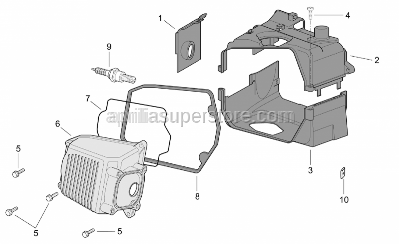 Aprilia - Inf.cylinder cover