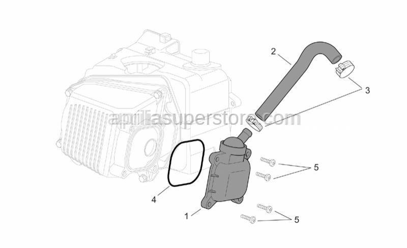 Aprilia - Oil breather valve