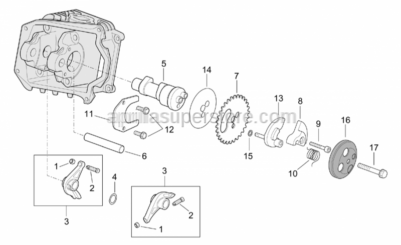 Aprilia - Rocker arm cpl.
