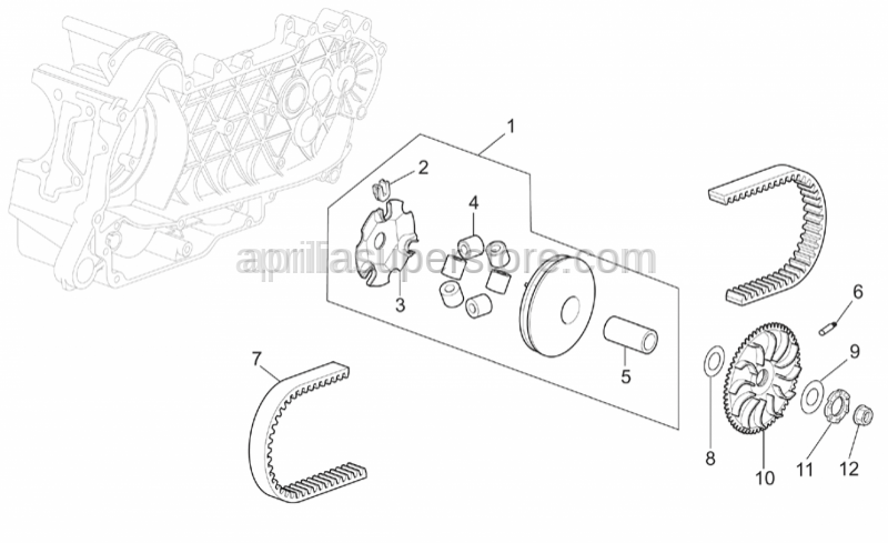 Aprilia - Pin roller-set 8,5gr