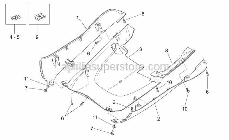 Aprilia - LH Rear stand masking