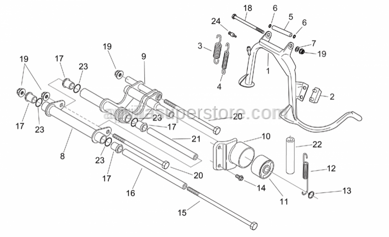 Aprilia - Frame coupling rod
