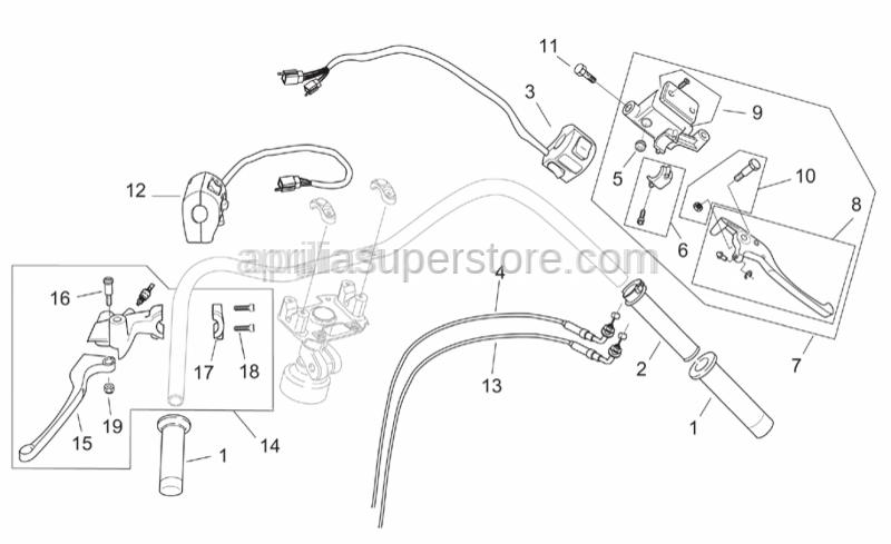 Aprilia - Brake lever pin