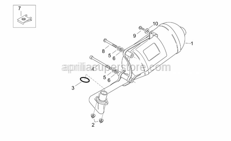 Aprilia - Hex socket screw M8x70*