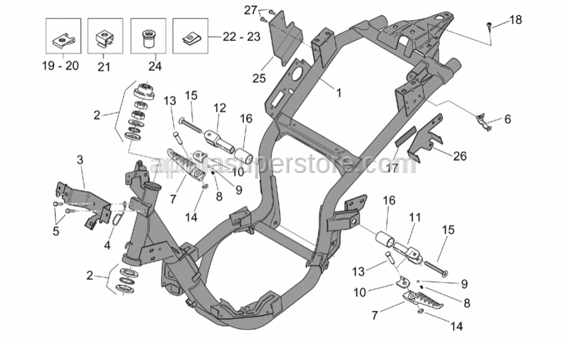 Aprilia - Canister support plate