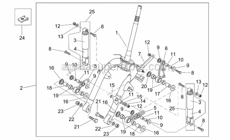 Aprilia - Brake caliper plate