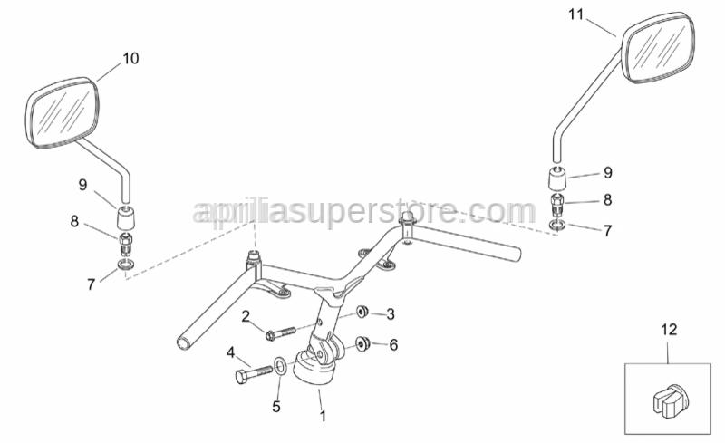 Aprilia - Screw w/ flange M8x40