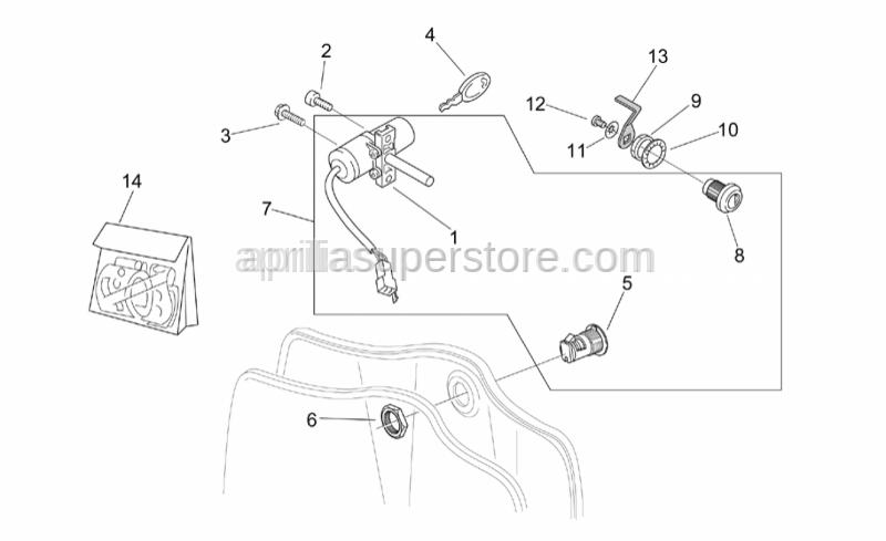 Aprilia - Lock hardware kit