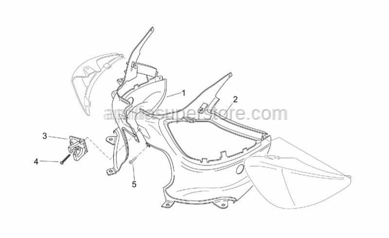Aprilia - Screw M4x35*