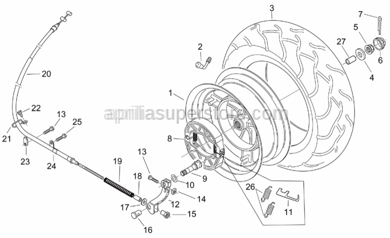 Aprilia - Brake shoes return s