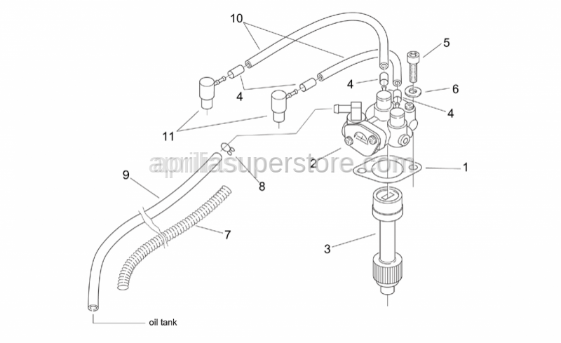 Aprilia - Mix oil pump gasket
