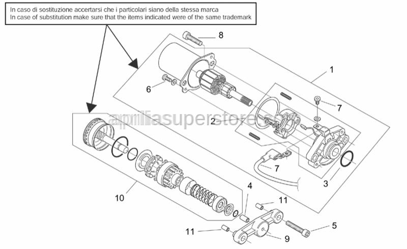 Aprilia - Wiring with screw