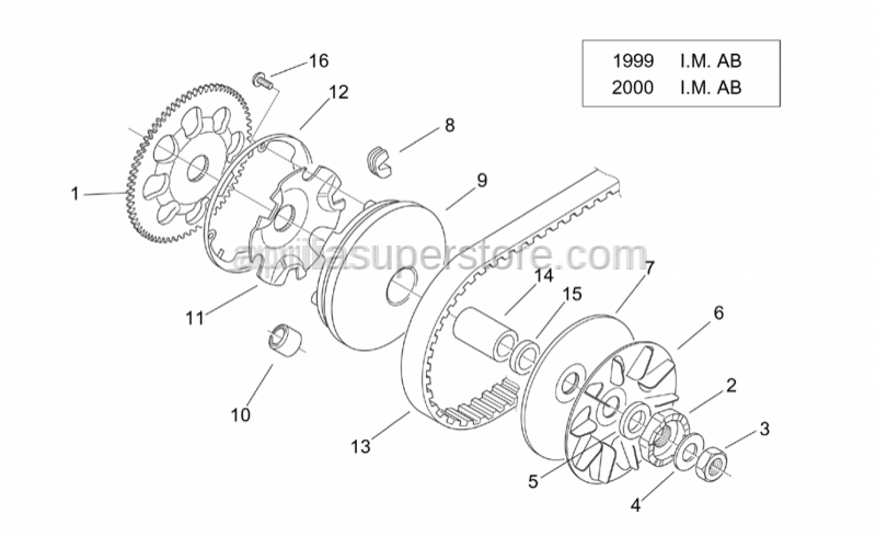 Aprilia - Fixed pulley