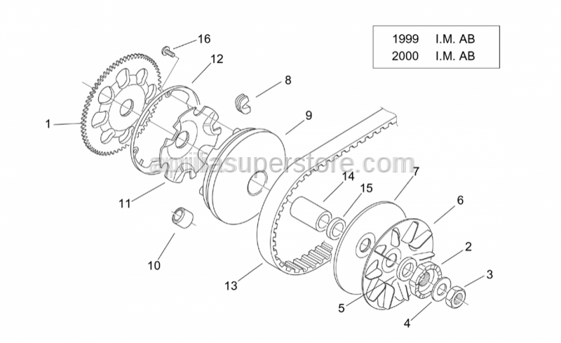 Aprilia - Pulley assy., driving