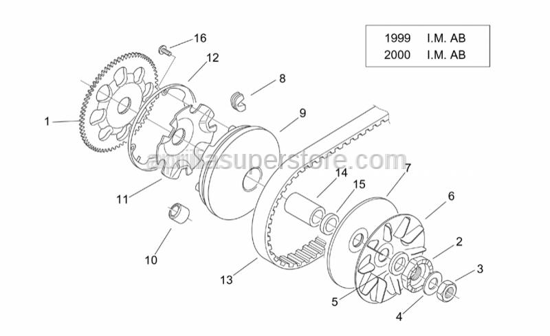 Aprilia - Pin roller d9,6