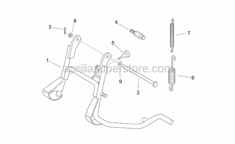 Aprilia - Spring coupling screw