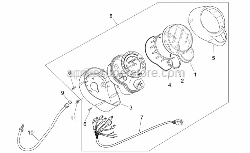 Aprilia - Diffuser shield