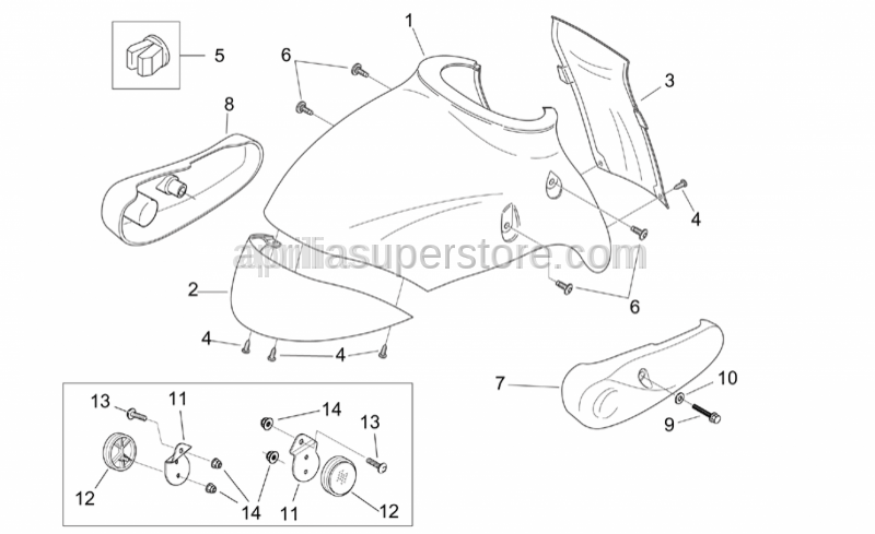 Aprilia - LH Connecting rod cover, chr.