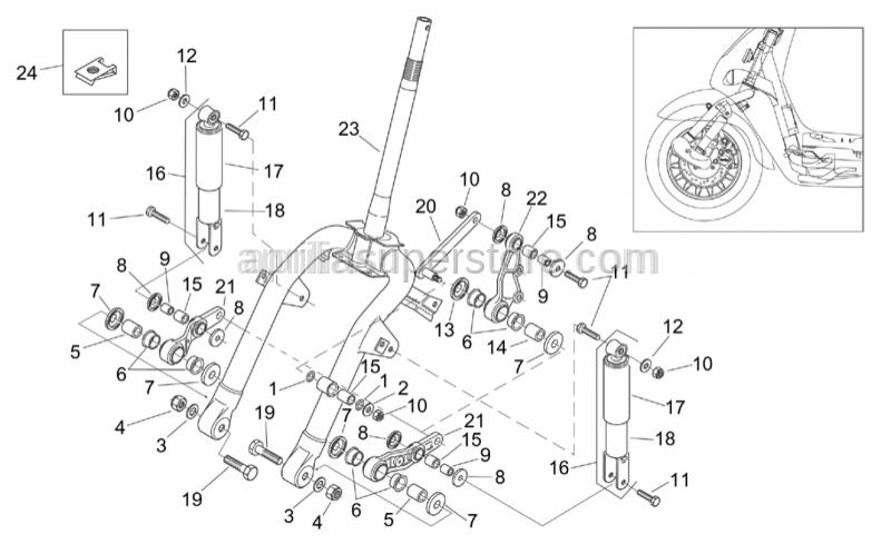Aprilia - Hex screw M8x35
