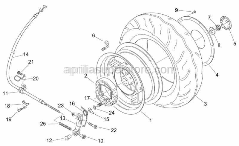 Aprilia - Screw w/ flange M6x35