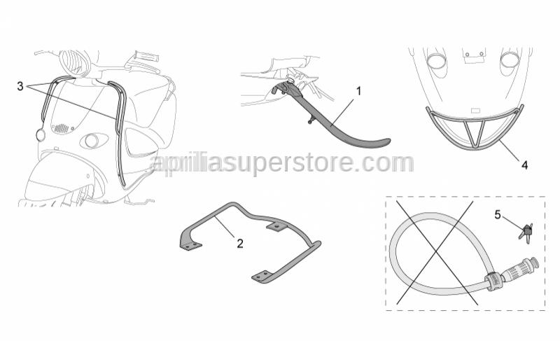 Aprilia - Rear handle