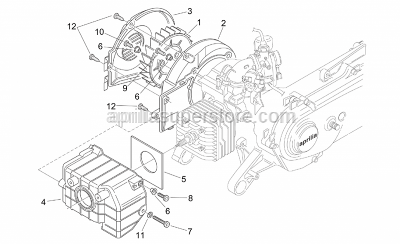 Aprilia - Screw w/self-retaining washer