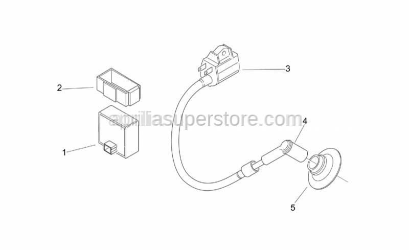 Aprilia - Sparkplug cap