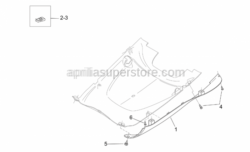 Aprilia - Screw 5,5x20