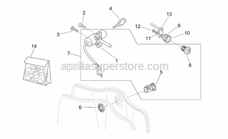 Aprilia - Saddle lockup lever