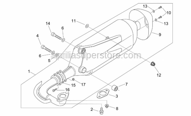 Aprilia - Cat.exhaust pipe