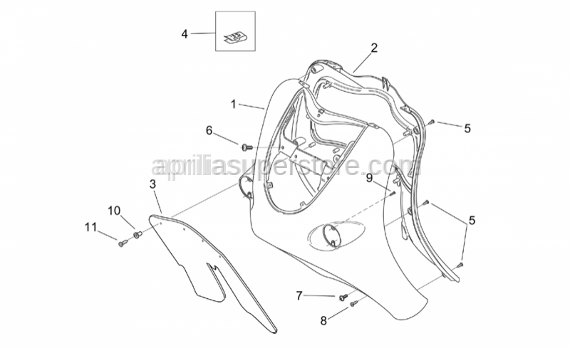 Aprilia - Internal shield, orange