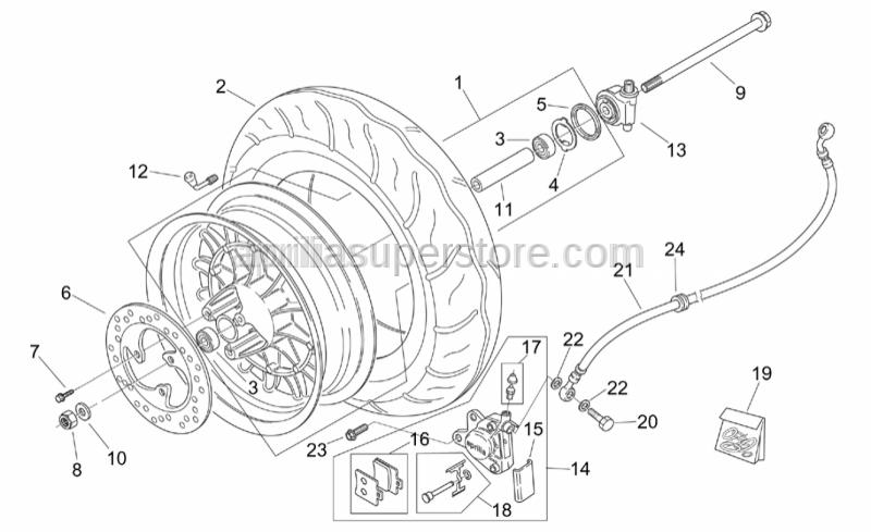 Aprilia - Front wheel spacer