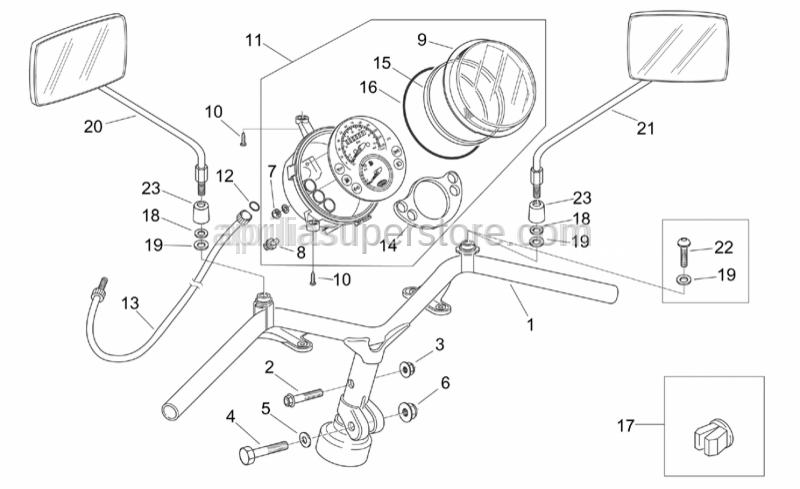 Aprilia - Hex socket screw M10x1,25