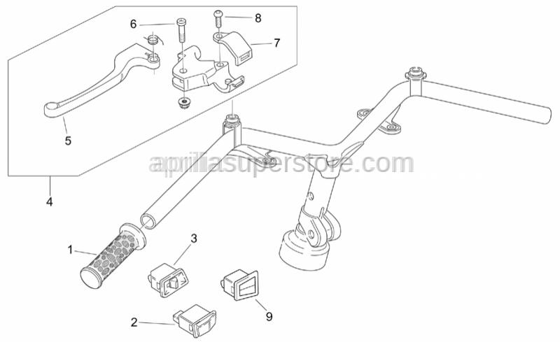 Aprilia - Rear brake lever complete