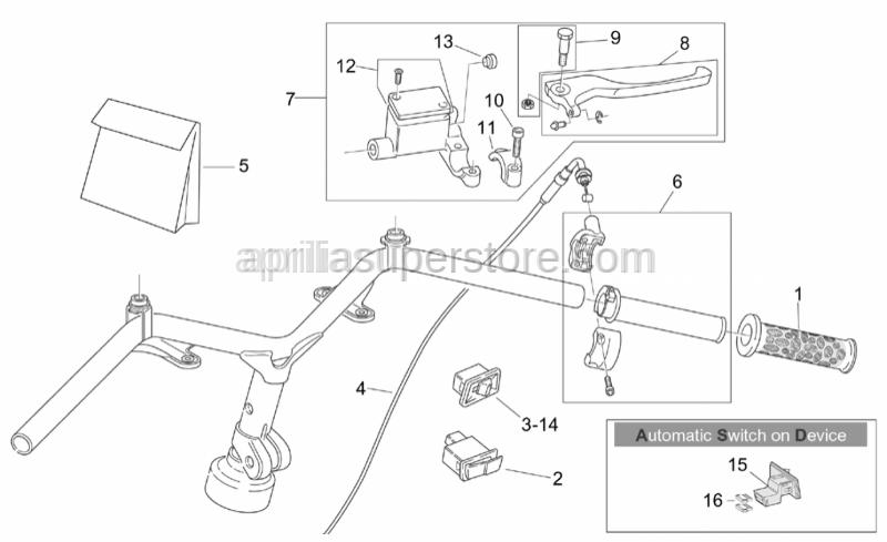 Aprilia - Pump revision kit