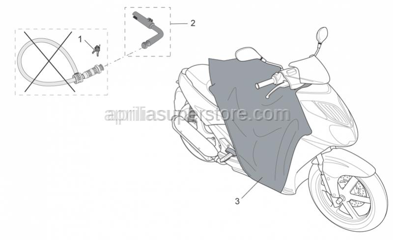 Aprilia - Leg cover sheet