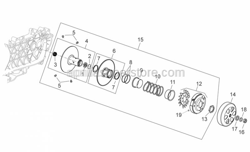 Aprilia - Roller cage 20x29x18